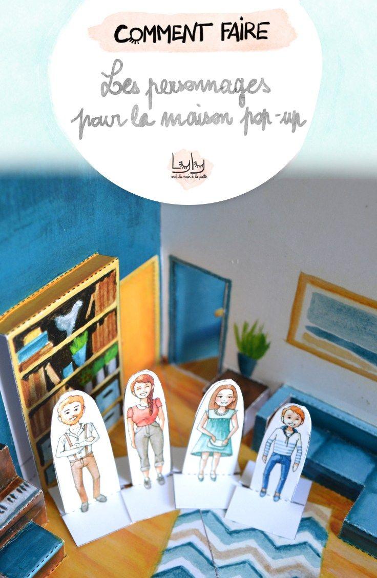 Les Personnages En Papier Pour La Maison Pop-Up | Maison Pop destiné Imprimer Un Livre Gratuitement
