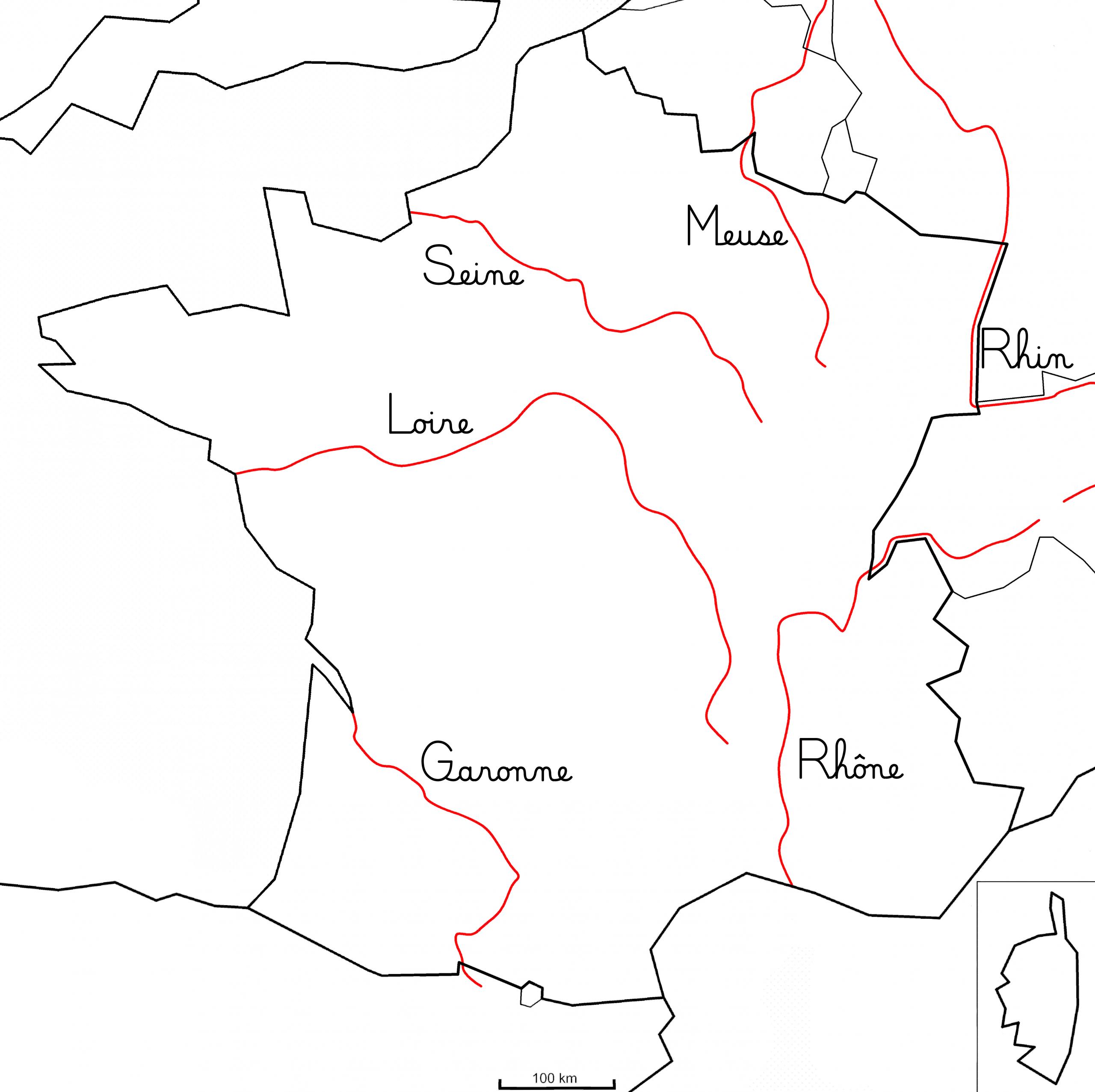 Les Principaux Fleuves De France - Montessori Etcie pour Carte De France Des Fleuves