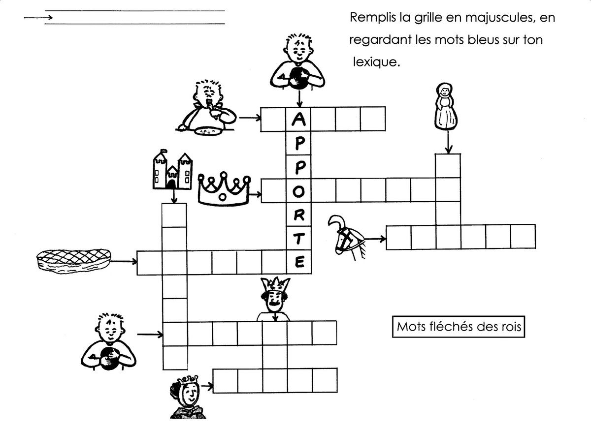 Les Rois Mots Fléchés - École Maternelle Gellow avec Mots Croisés Maternelle