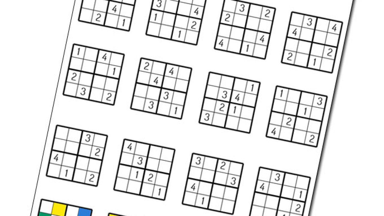 Les Sudokus De L'été Pour Vos Enfants _ À Imprimer [Diy intérieur Jeux Sudoku À Imprimer