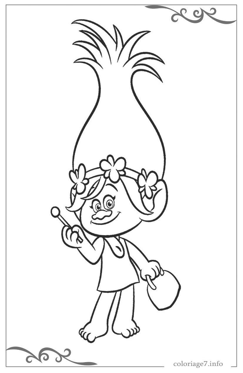 Les Trolls Coloriages Pour Filles Gratuits À Imprimer intérieur Coloriage Gratuit À Imprimer Pour Fille