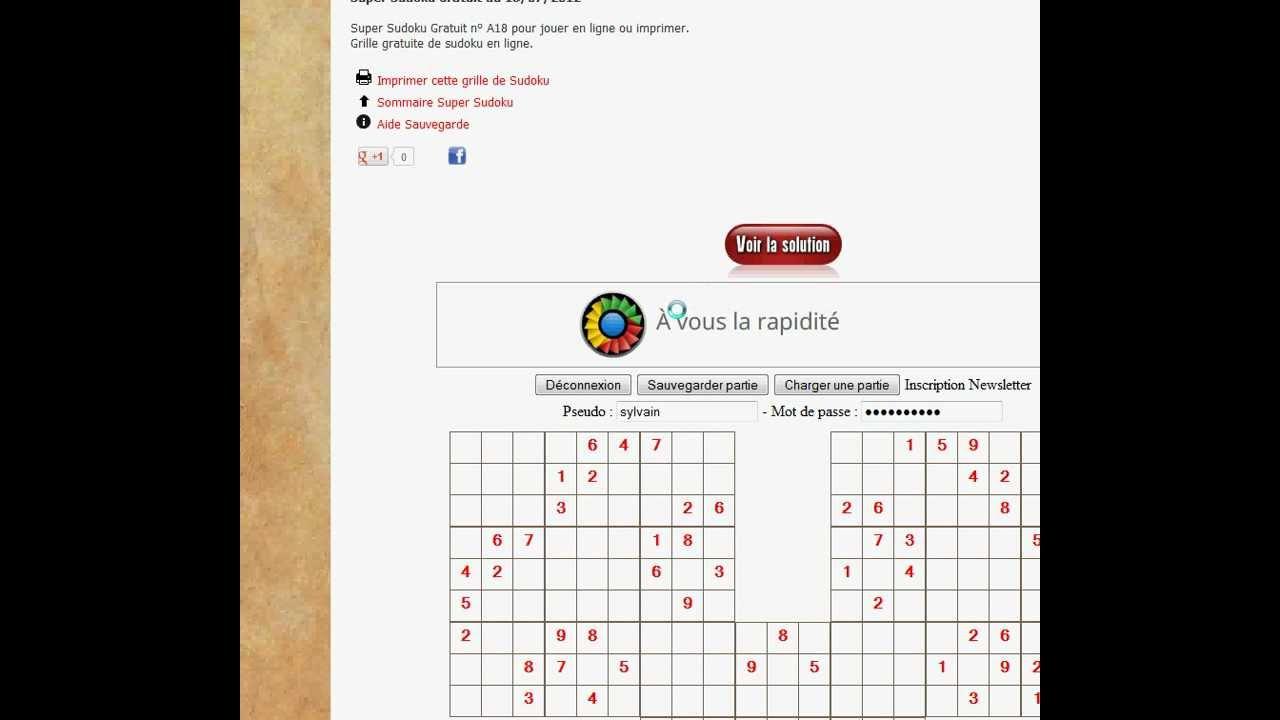 Lesupersudoku avec Grille Sudoku Gratuite À Imprimer