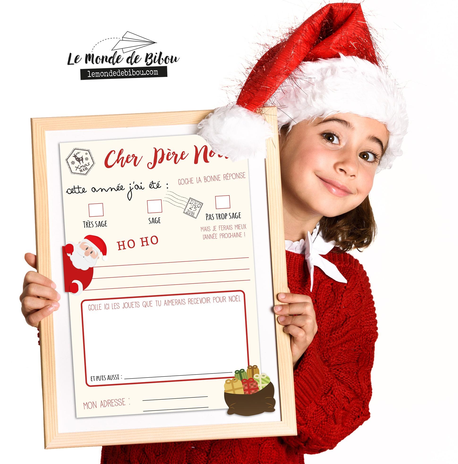 Lettre Au Père Noël À Imprimer Avec Son Enveloppe Prête À tout Papier A Lettre Pere Noel Gratuit
