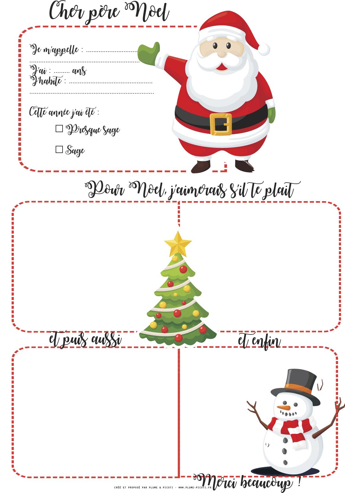 Lettre Au Père Noël À Imprimer | Pere Noel A Imprimer encequiconcerne Papier À Lettre Père Noel À Imprimer Gratuitement