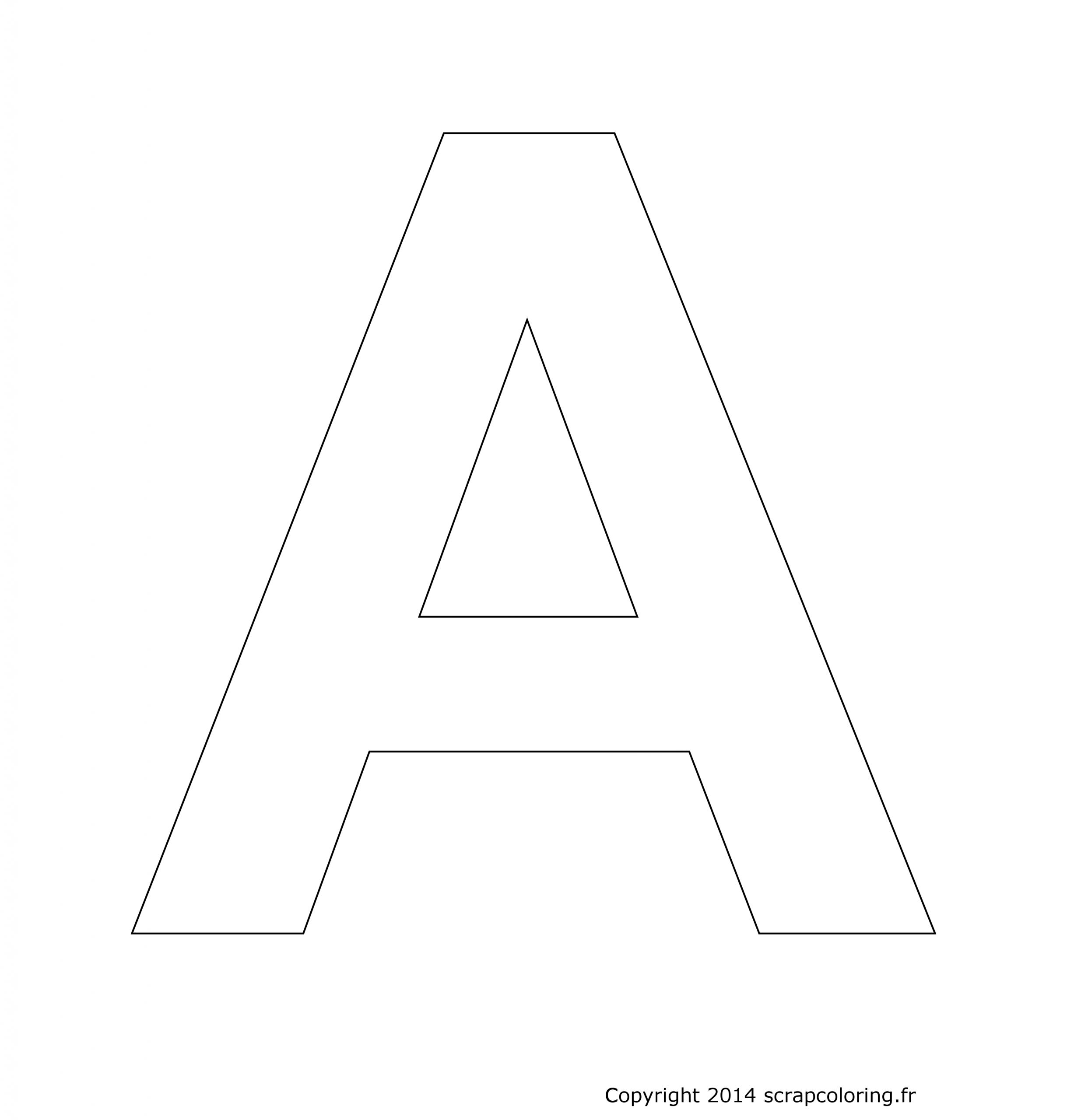 Lettres A Et A Colorier. Les Lettres De Lalphabet La Lettre tout Coloriage Alphabet Complet A Imprimer