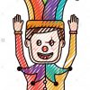 L'homme Dessin Animé Avec Masque De Clown Jester Hat Funny serapportantà Dessin De Clown En Couleur