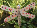 Libellule Nature Avec Une Pincette + Bâtonnets En Bois. dedans Travaux Manuels Printemps Maternelle