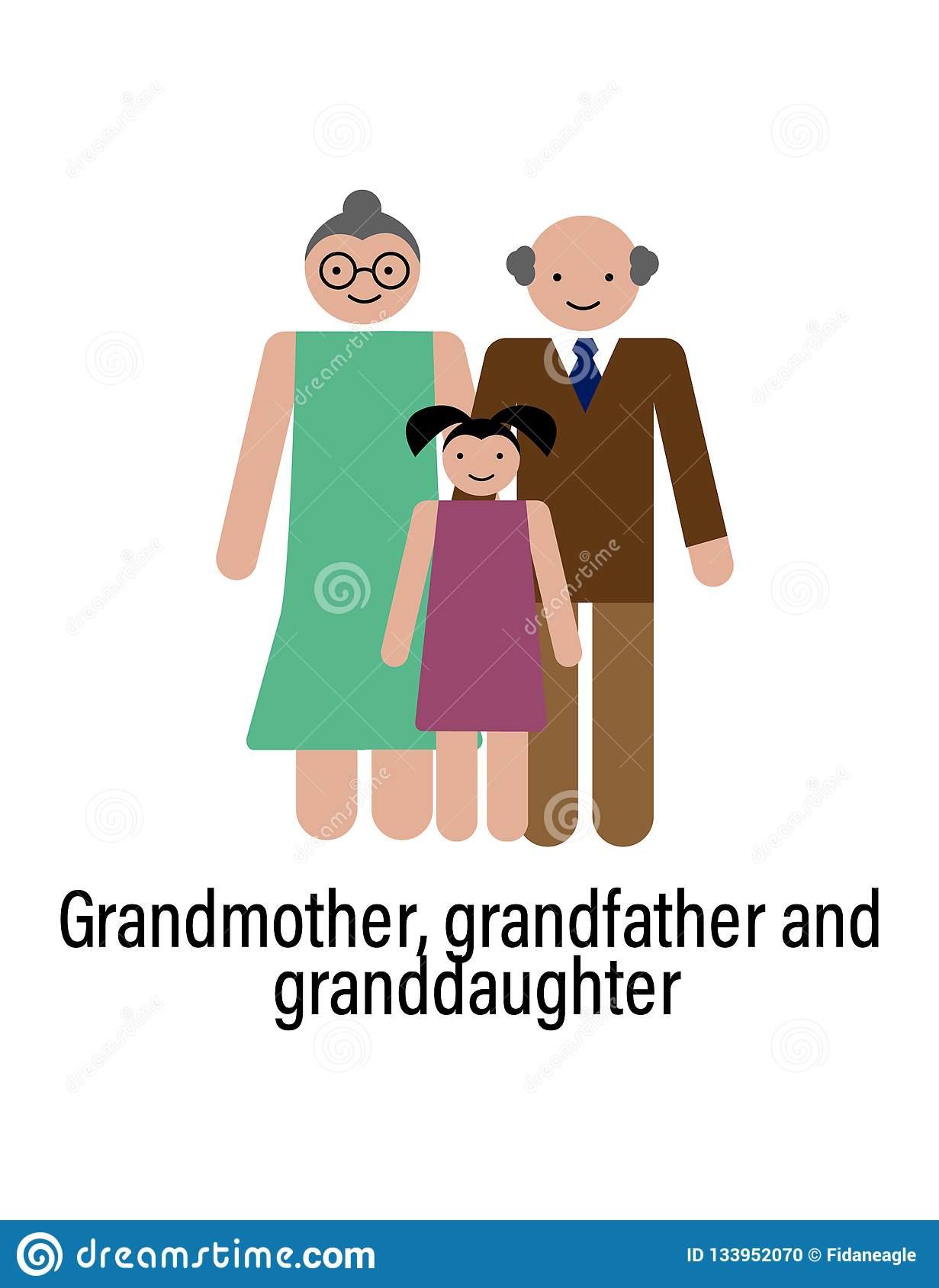 L'icône De Grand-Mère, De Grand-Père Et De Petite-Fille Peut serapportantà Ux De Fille
