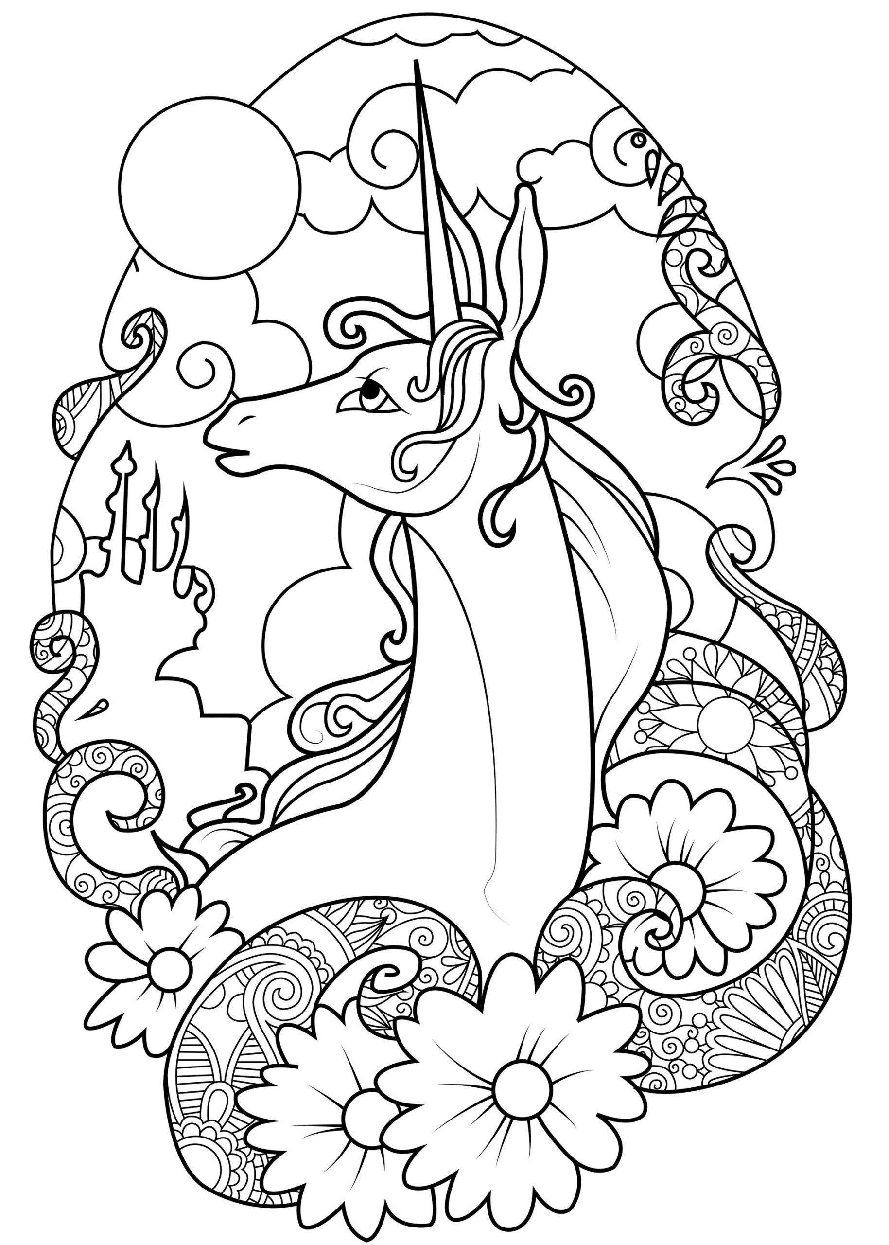 Licorne Féerique - Licornes - Coloriages Difficiles Pour Adultes destiné Jeux De Coloriage Licorne