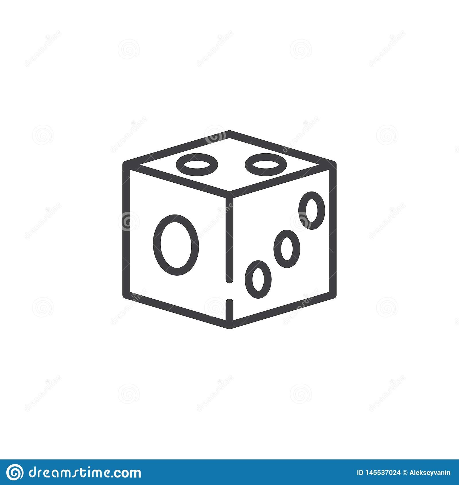 Ligne Ic?ne De Matrices De Jeu Illustration De Vecteur destiné Jeux Domino Gratuit En Ligne