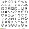 Ligne Icônes Réglées, Grand Paquet D'éléments Graphiques De serapportantà Jeux Fléchés En Ligne