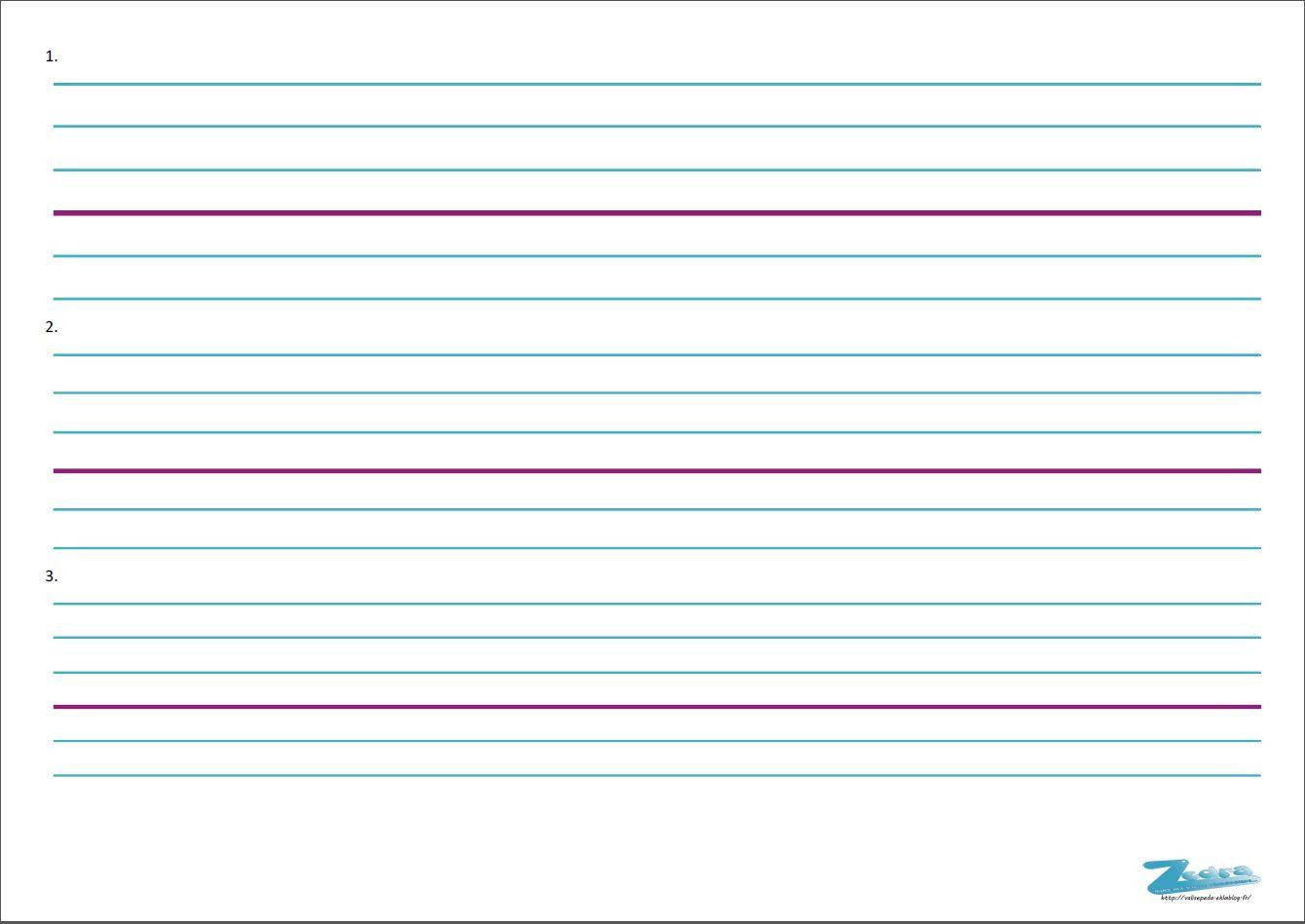 Lignes Seyès Différentes Largeur | Lignes Seyes, Apprendre L tout Ligne Écriture Gs
