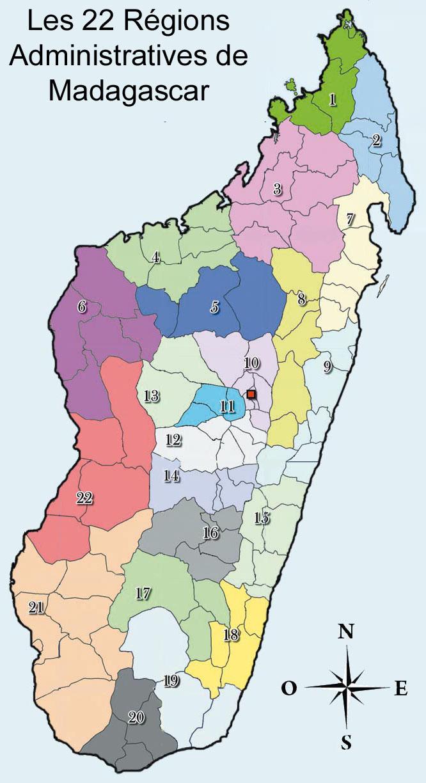 Liste dedans Carte Des 22 Régions