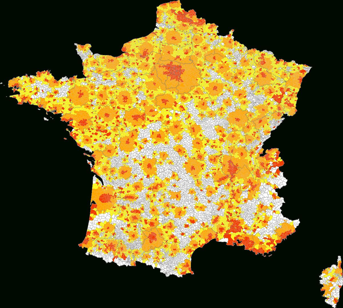 Liste Des Aires Urbaines De France — Wikipédia avec Carte De La France Avec Toutes Les Villes