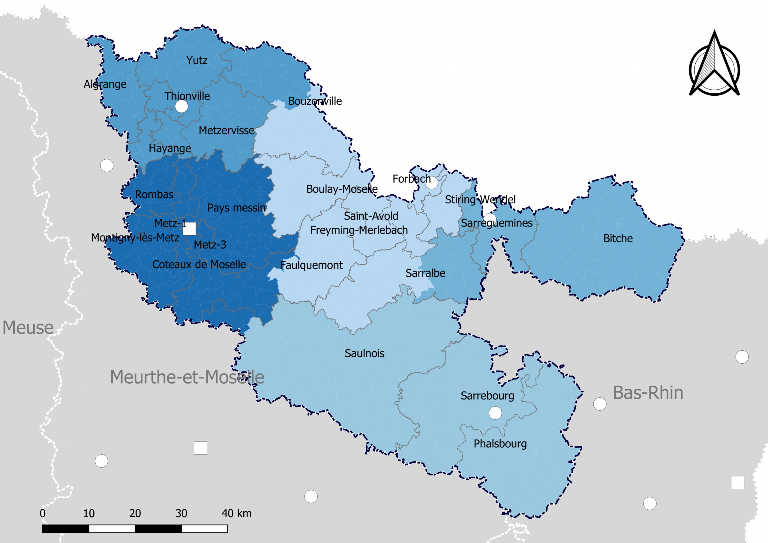 Liste Des Cantons De La Moselle — Wikipédia intérieur Département 57 Carte