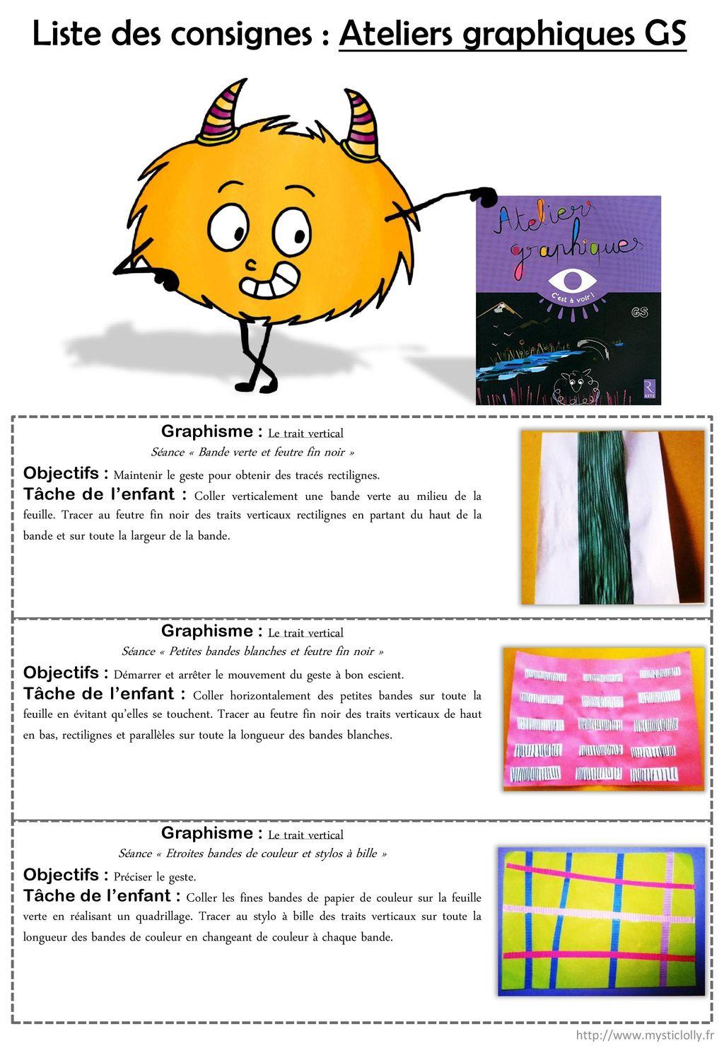 Liste Des Consignes : Ateliers Graphiques Gs tout Activités Graphiques Gs
