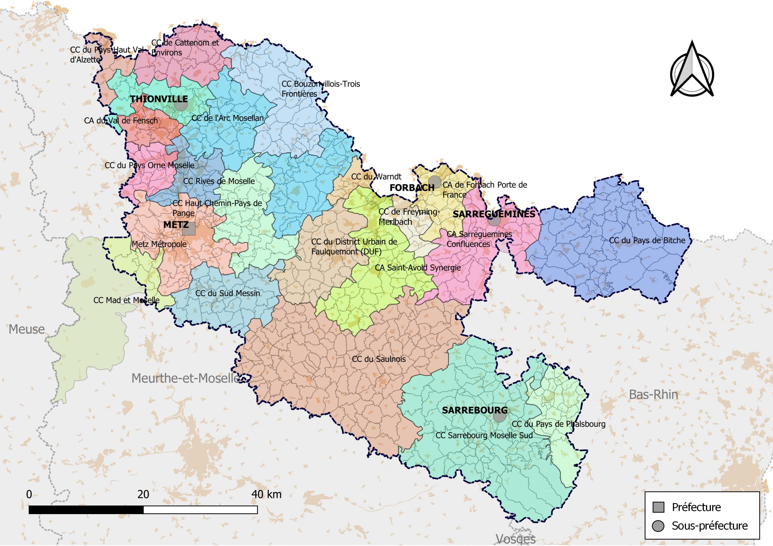 Liste Des Intercommunalités De La Moselle — Wikipédia avec Département 57 Carte