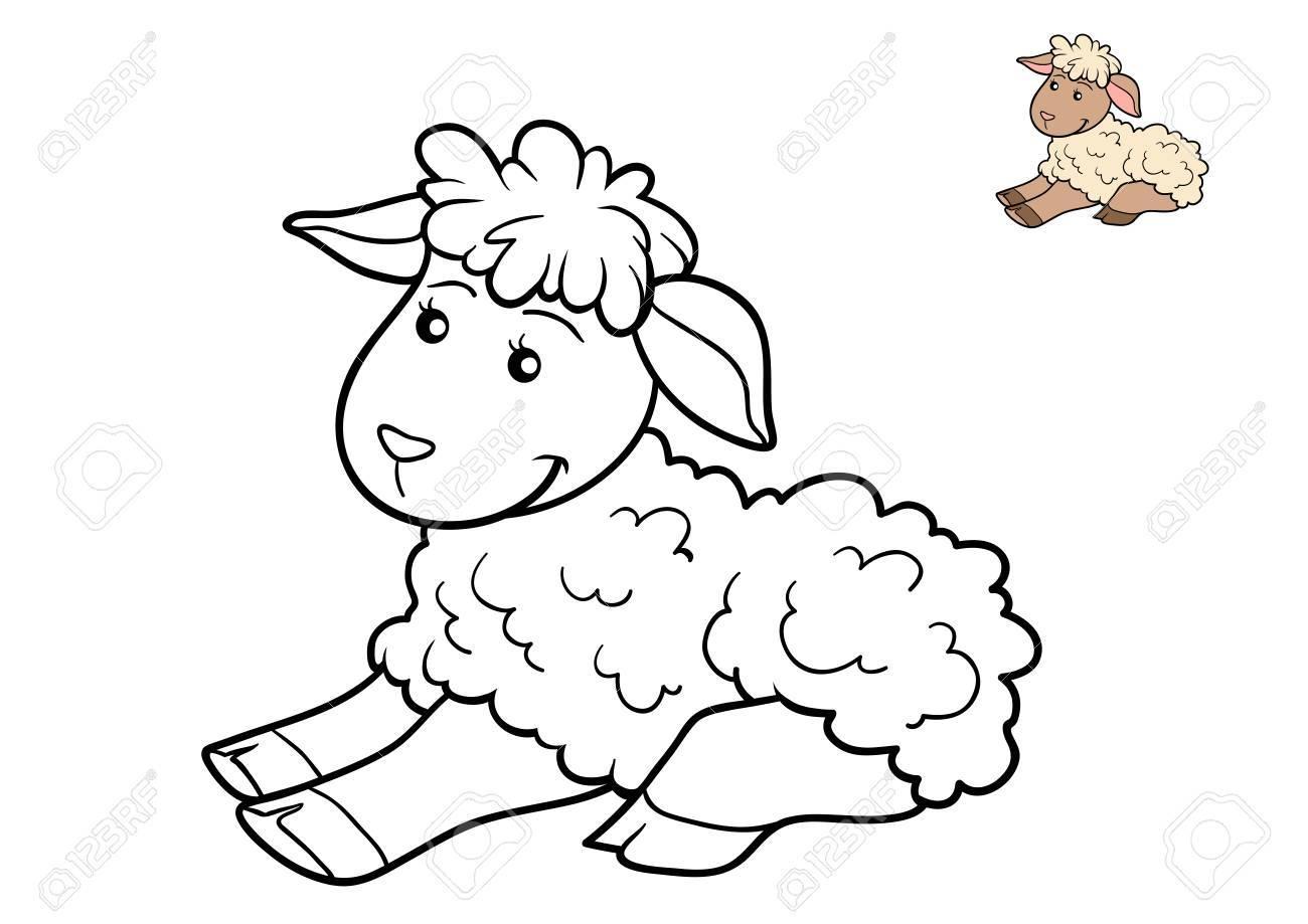 Livre À Colorier Pour Les Enfants, Mouton avec Mouton À Colorier