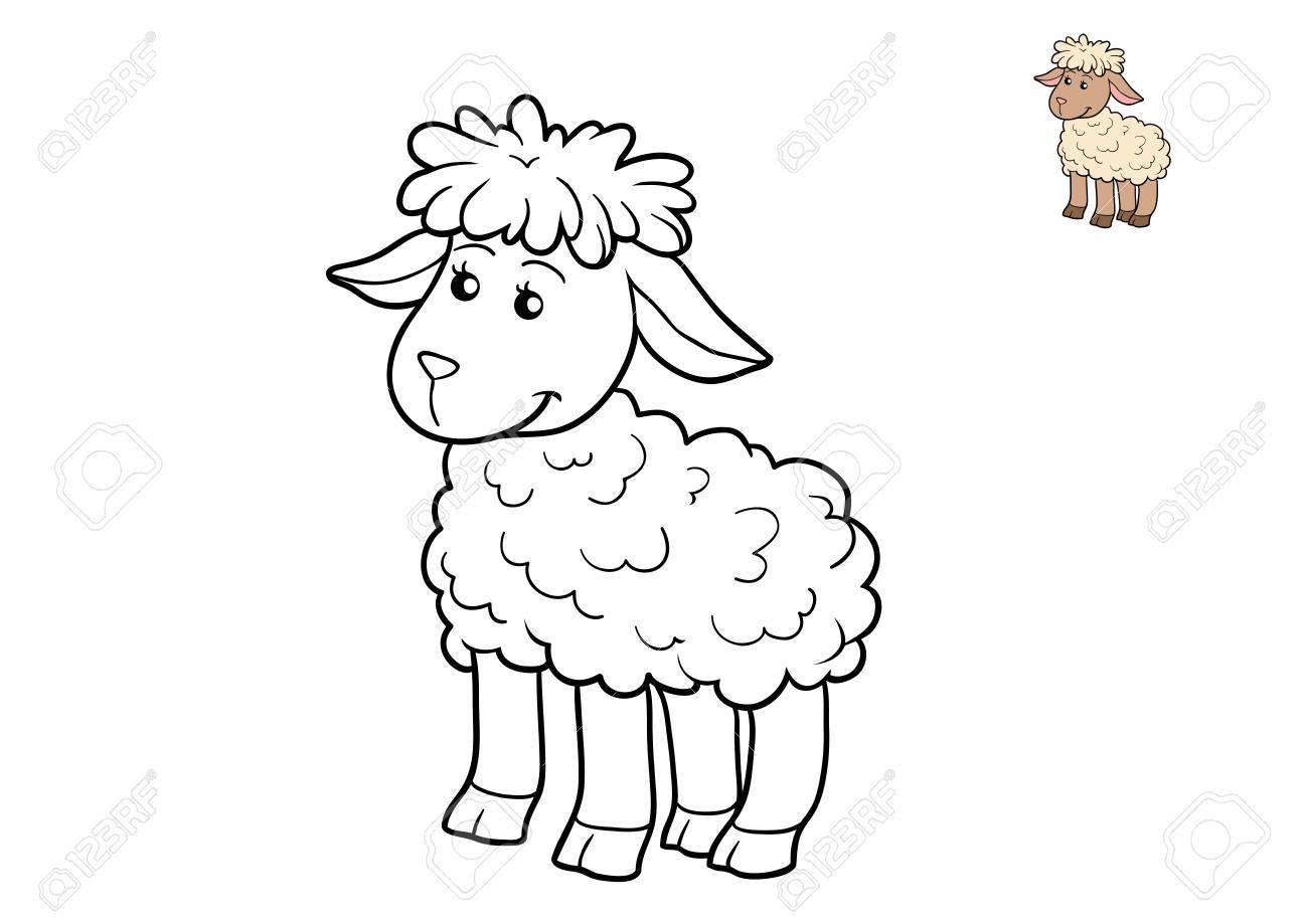 Livre À Colorier Pour Les Enfants, Mouton pour Mouton À Colorier