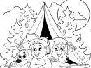 Livre De Coloriage Enfants Camping En Forêt Vecteurs Et serapportantà Cahier De Coloriage Enfant