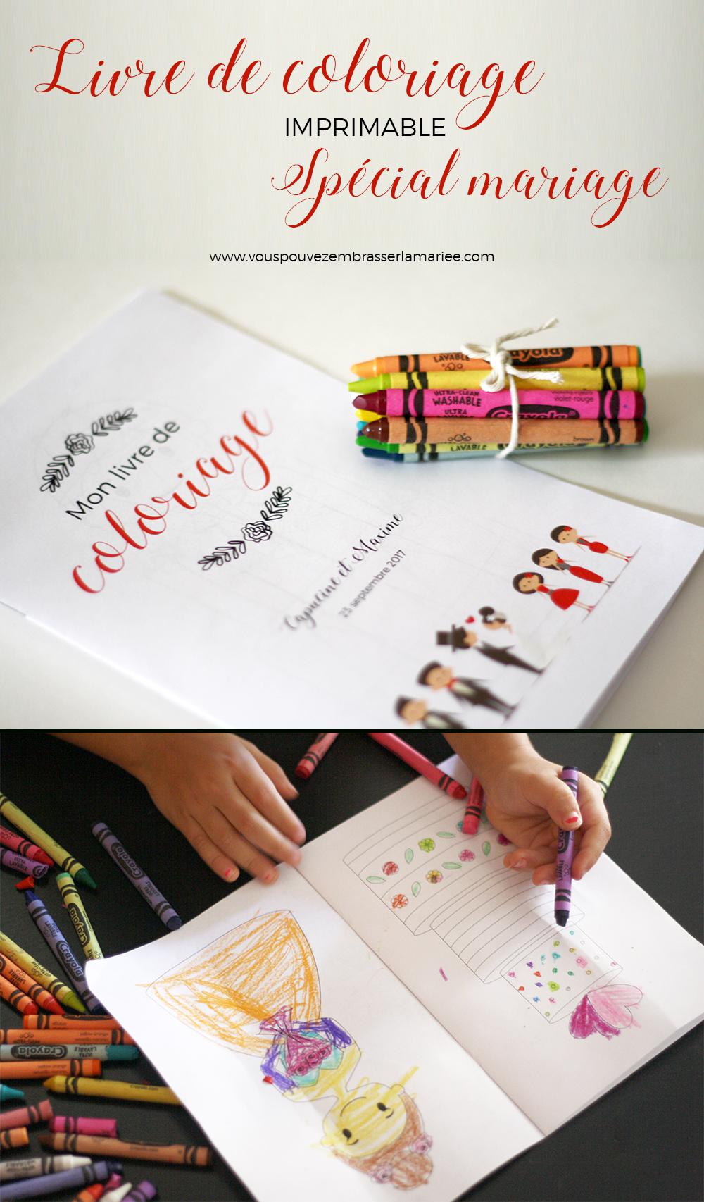 Livre De Coloriage Imprimable Spécial Mariage | Coloriage avec Cahier De Coloriage Enfant