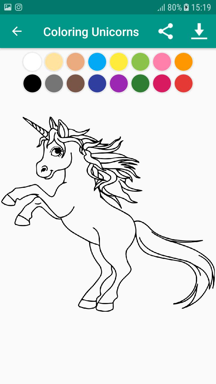 Livre De Coloriage Licorne & Unicorn For Android - Apk Download à Jeux De Coloriage Licorne