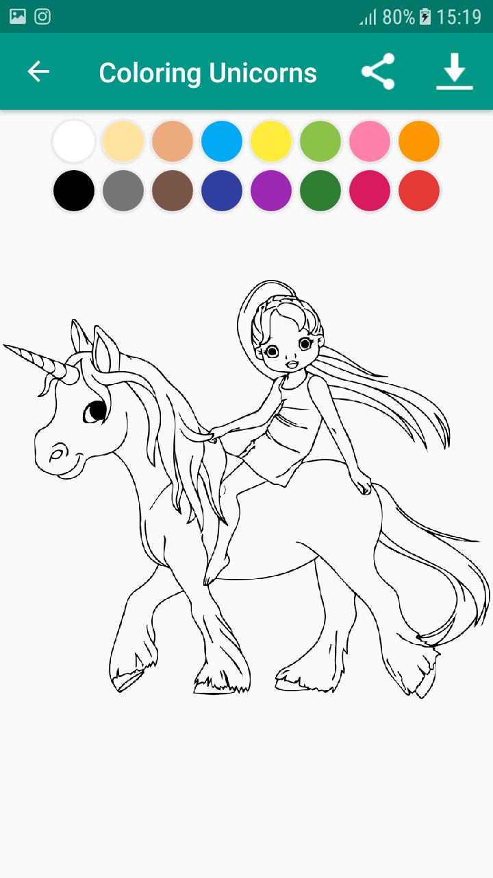 Livre De Coloriage Licorne & Unicorn For Android - Apk Download destiné Jeux De Coloriage Licorne