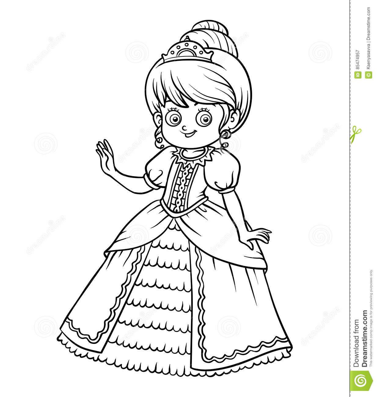Livre De Coloriage, Personnage De Dessin Animé, Princesse dedans Personnage À Colorier