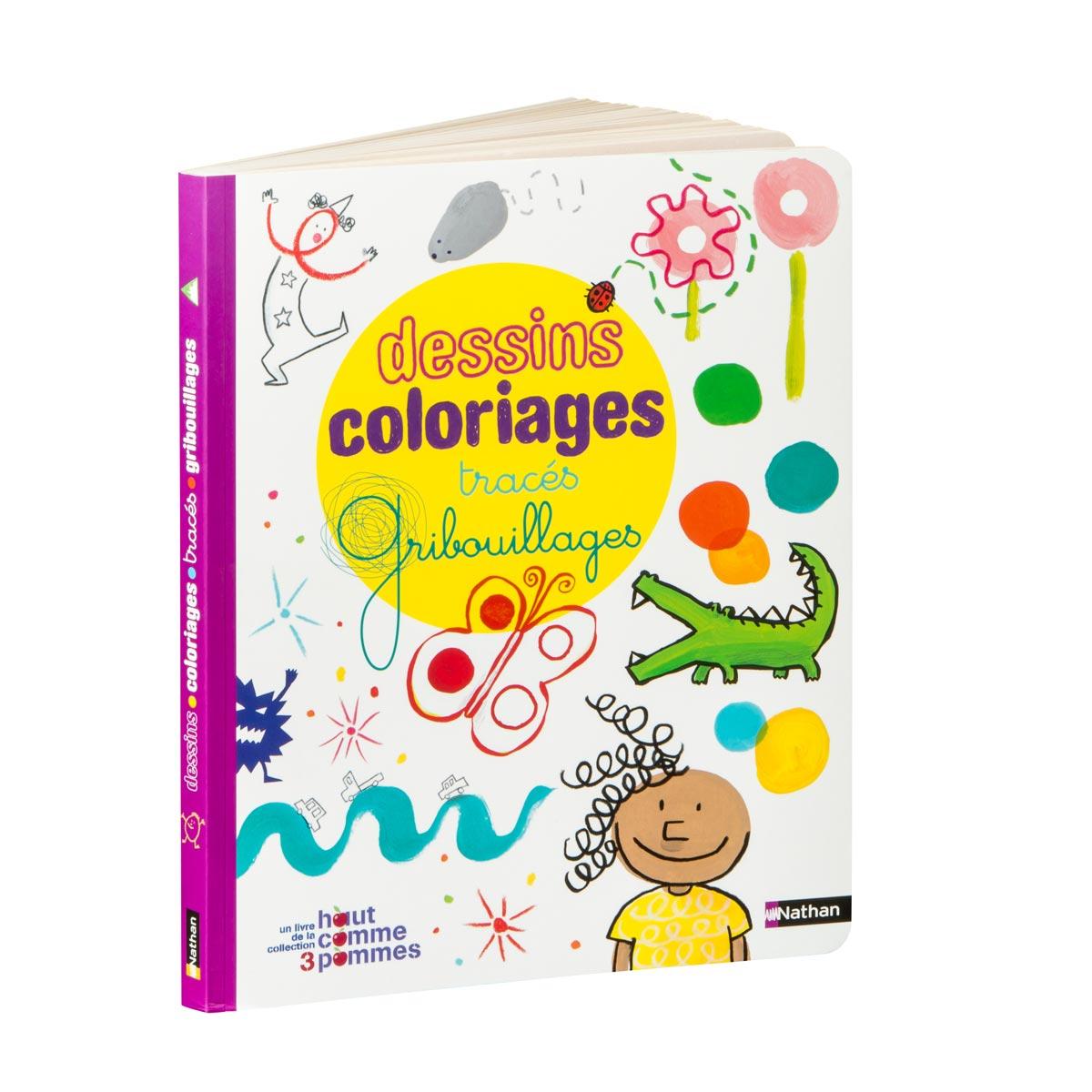 Livre Dessins Coloriages Tracés Gribouillages intérieur Cahier De Coloriage Enfant