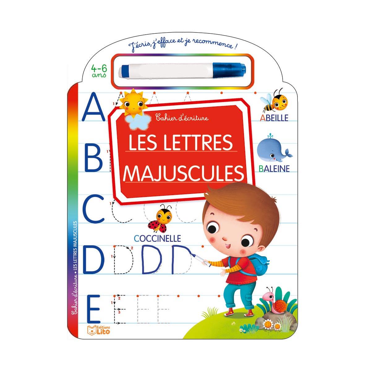 Livre Effaçable J'écris Les Lettres Majuscules destiné Écrire Les Majuscules