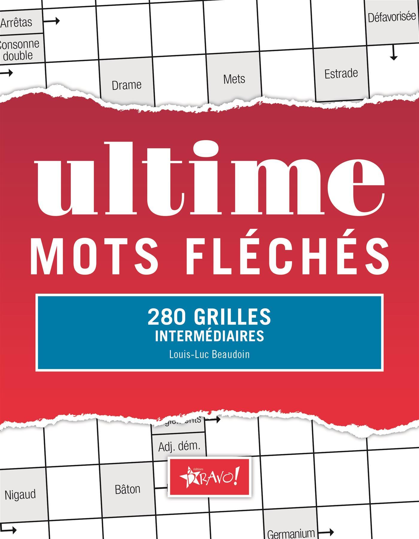 Livre Ultime Mots Fléchés - 280 Grilles Intermédiaires tout Mots Fleches Gr