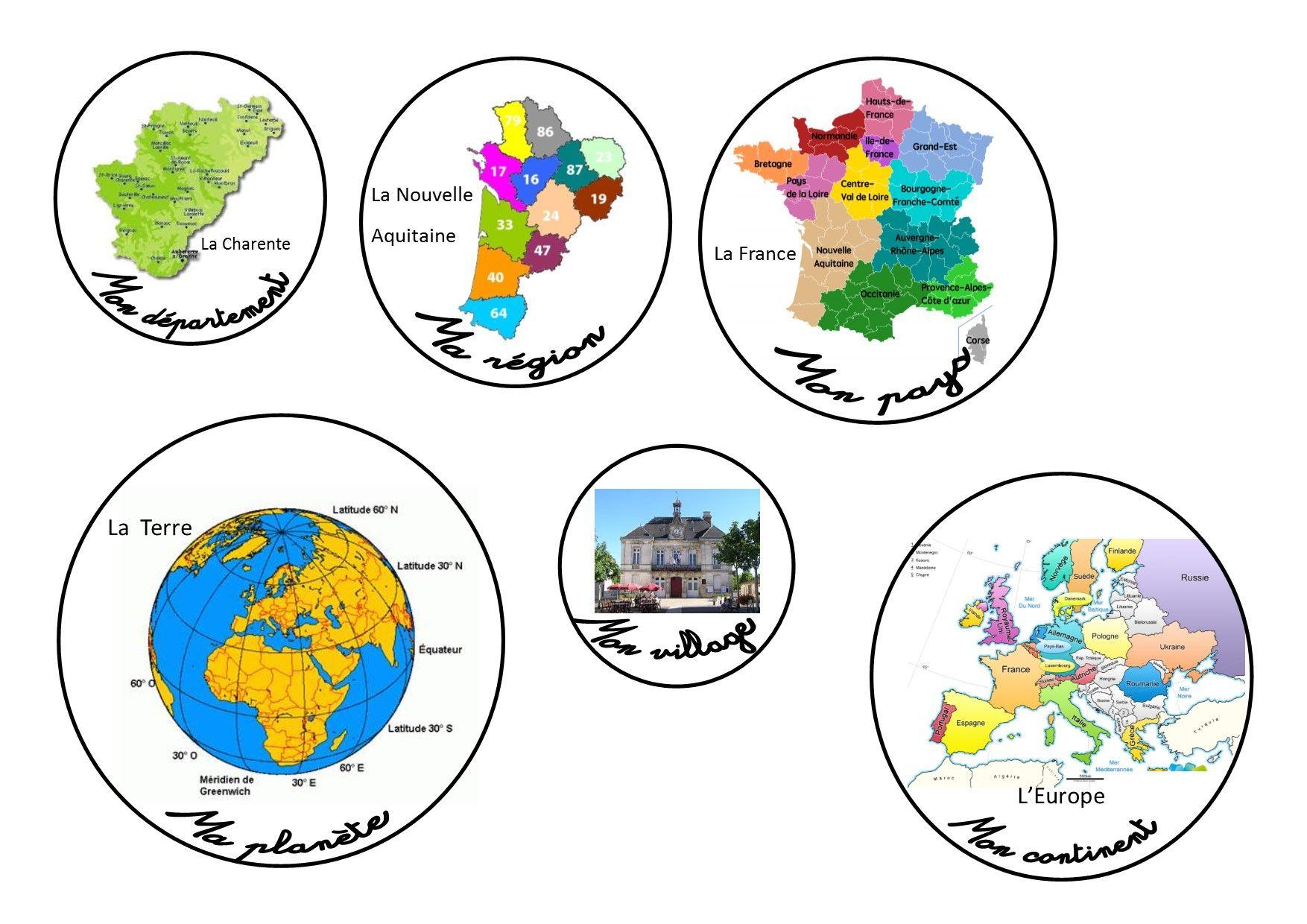 Livret Pour Structurer L'espace | Géographie, Ce2 Cm1 Et Ce1 intérieur Le Découpage Administratif De La France Ce2