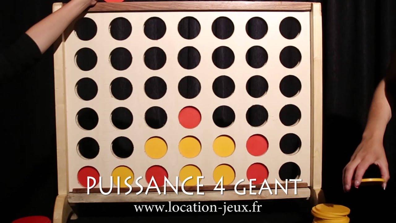 Location Jeu En Bois Puissance 4 Géant | Louer Jeu De Hasard avec Jouer A Puissance 4