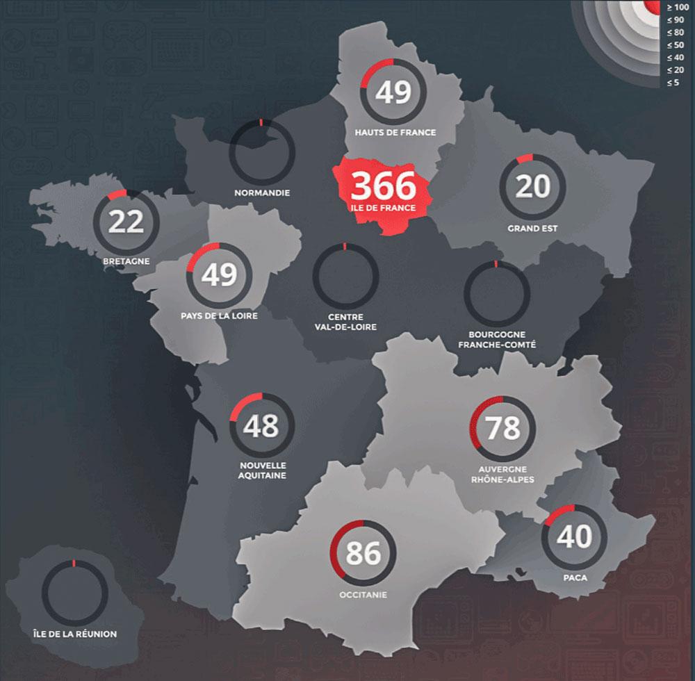 L'occitanie, Vivier De Créateurs De Jeux Vidéo | Le Mas Media encequiconcerne Jeu De Carte De France