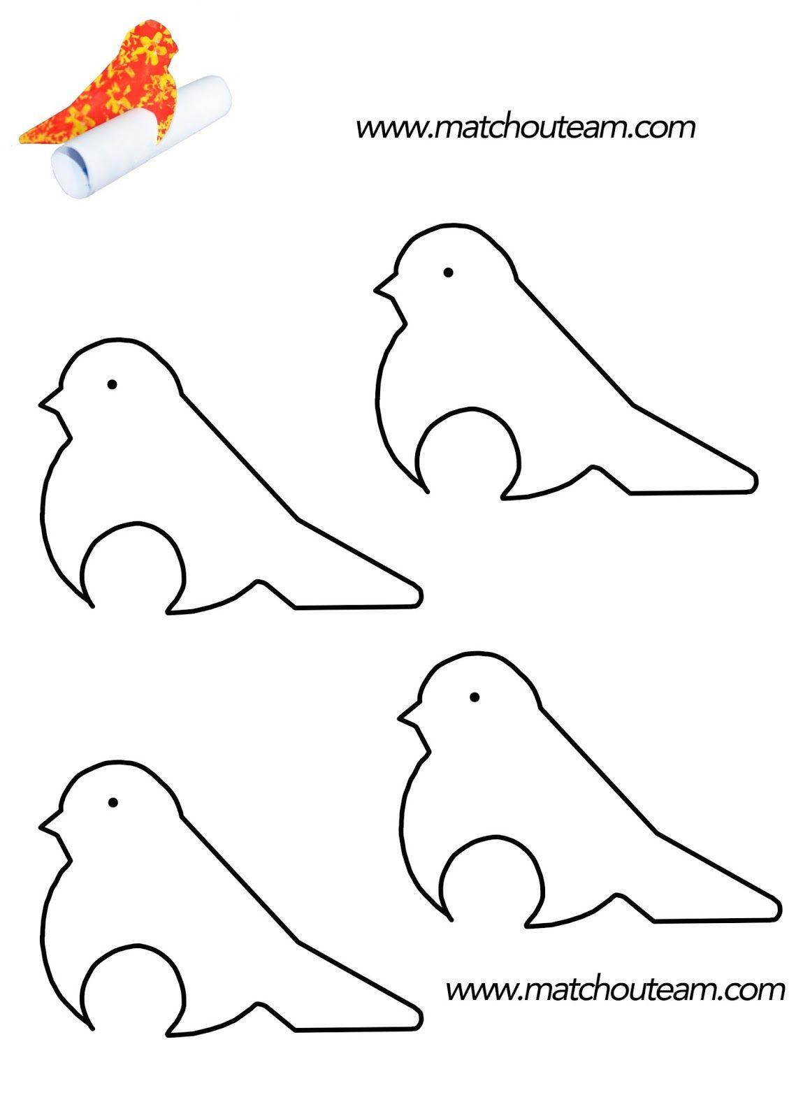 L'oiseau Messager | Oiseau En Papier, Modèles D'animaux En concernant Modèle Oiseau À Découper