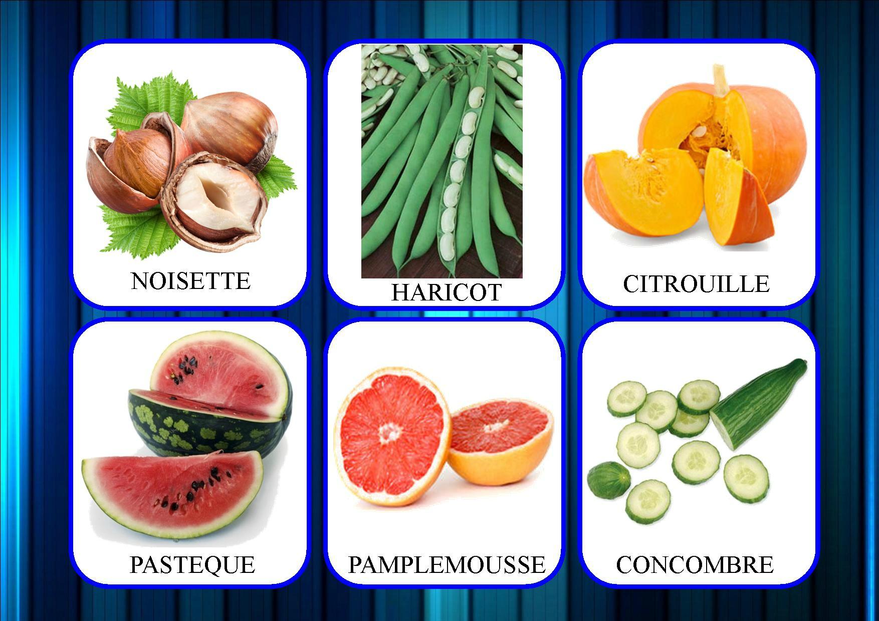 Loto Des Fruits Et Légumes - La Classe De Mamaicress intérieur Jeux De Fruit Et Legume Coupé
