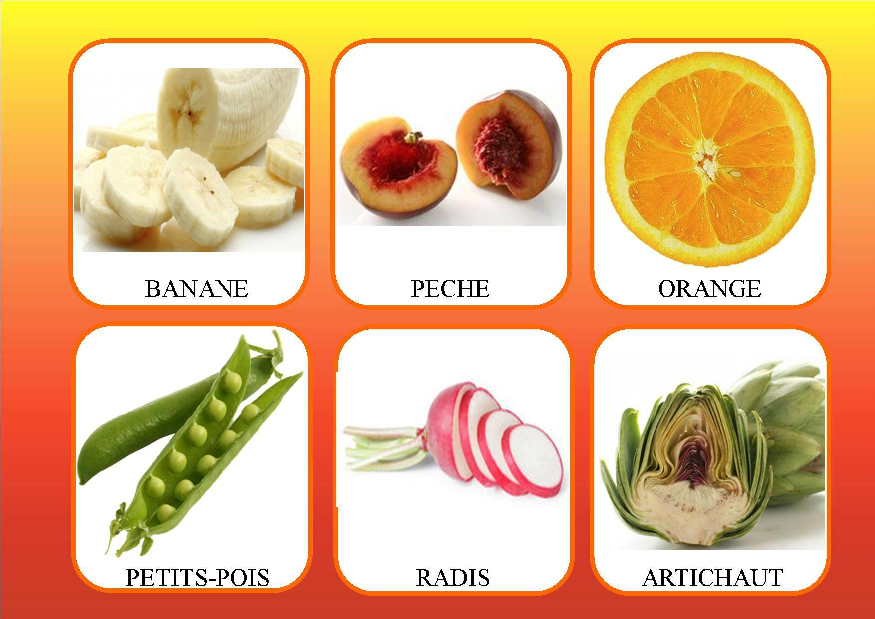 Loto Des Fruits Et Légumes - La Classe De Mamaicress serapportantà Nom Legume
