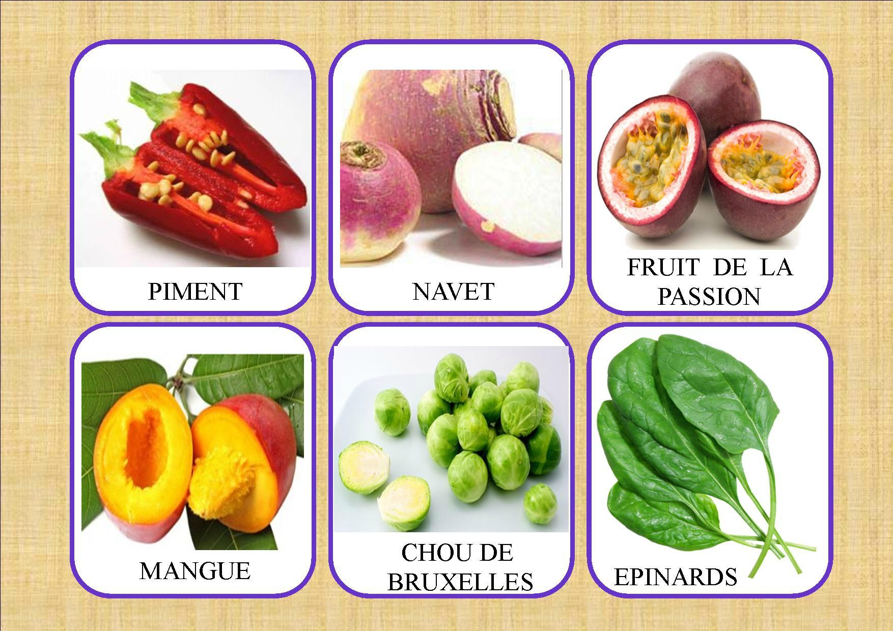 Loto Des Fruits Et Légumes - La Classe De Mamaicress tout Jeux De Fruit Et Legume Coupé