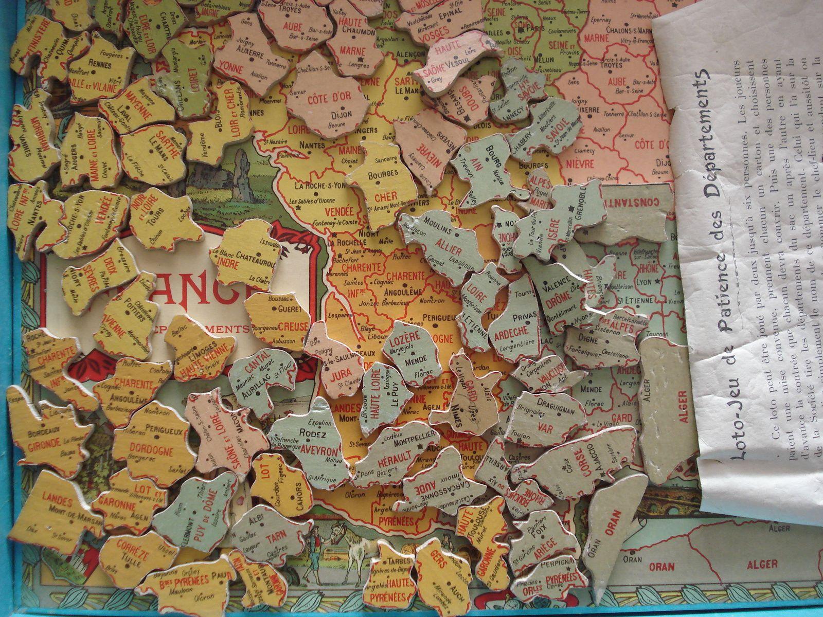 Lotos Géographiques Departements. - Collection De Jeux Anciens à Puzzle Departement