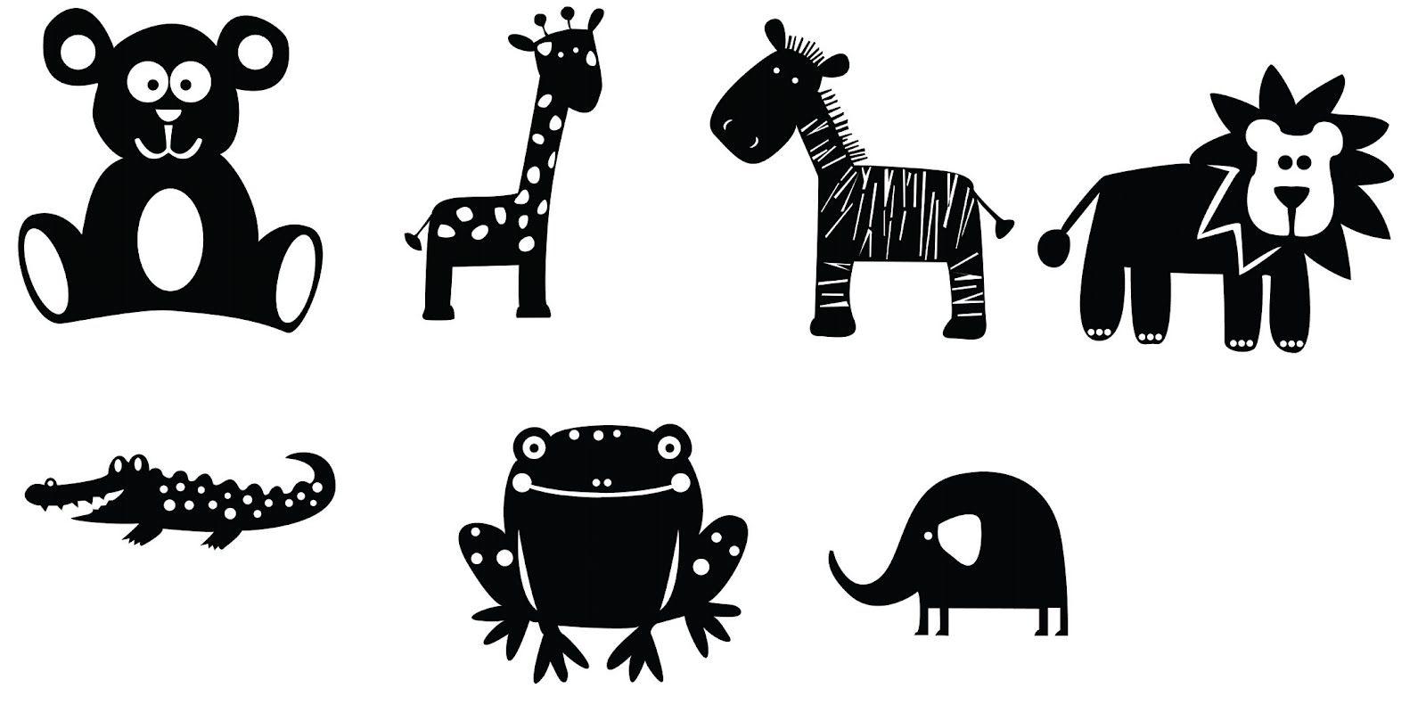 Lots Of Svgs / Animaux : Ourson, Girafe, Zèbre, Lion encequiconcerne Silhouette D Animaux À Imprimer