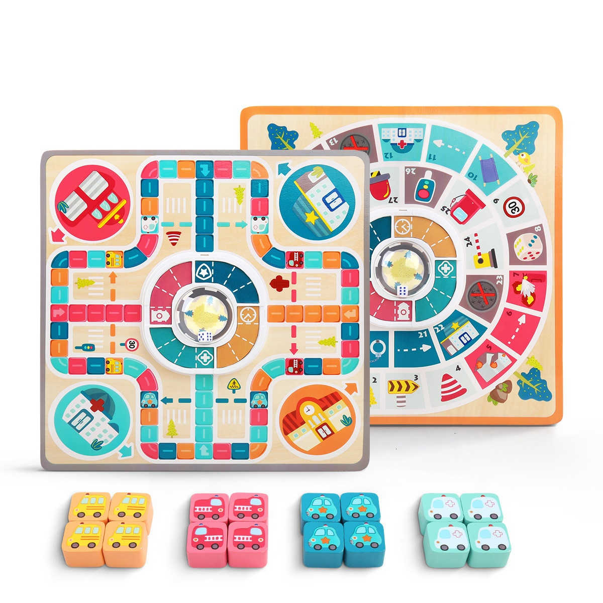 Ludo Montessori Educational Wooden Double Sides Toys For Children Family  Board Games For Preschool Kids Interactive Toy Jouet à France 4 Ludo