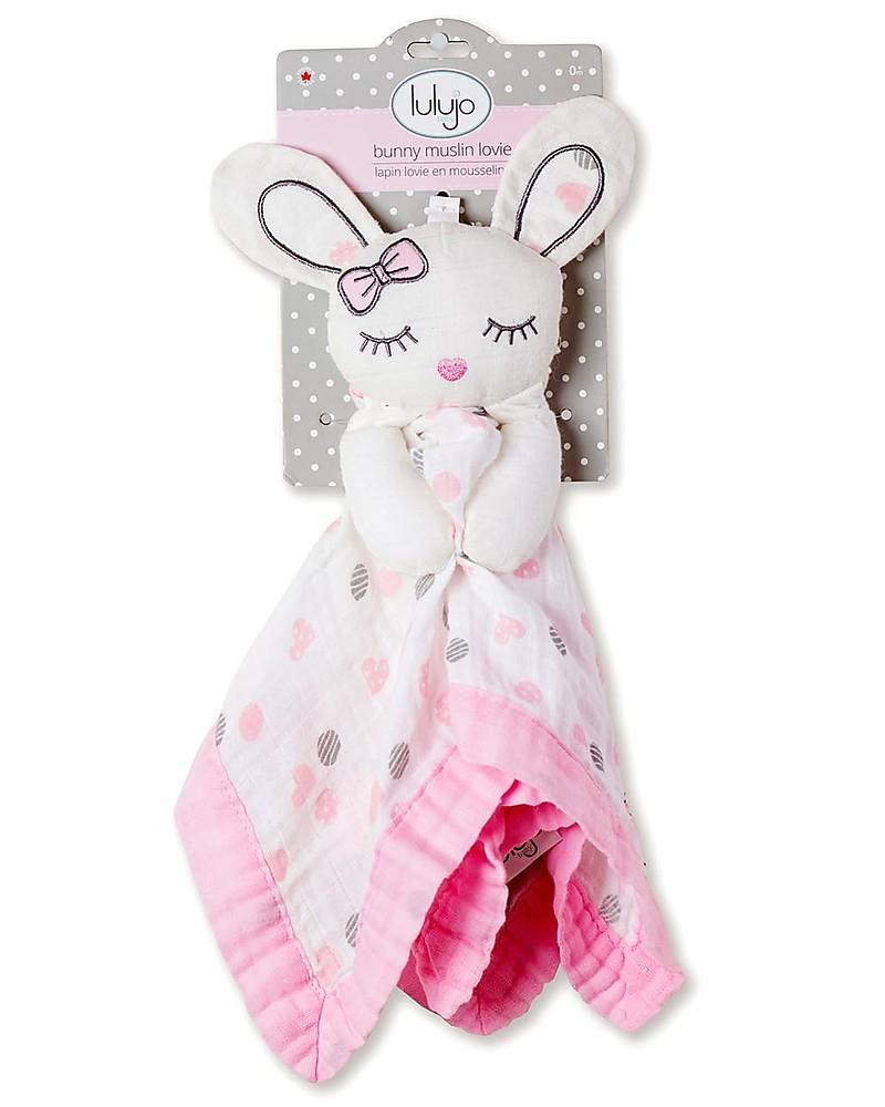 Lulujo Baby Doudou Comforter Lovie - Pink Bunny - 100 dedans Lapin Lulu