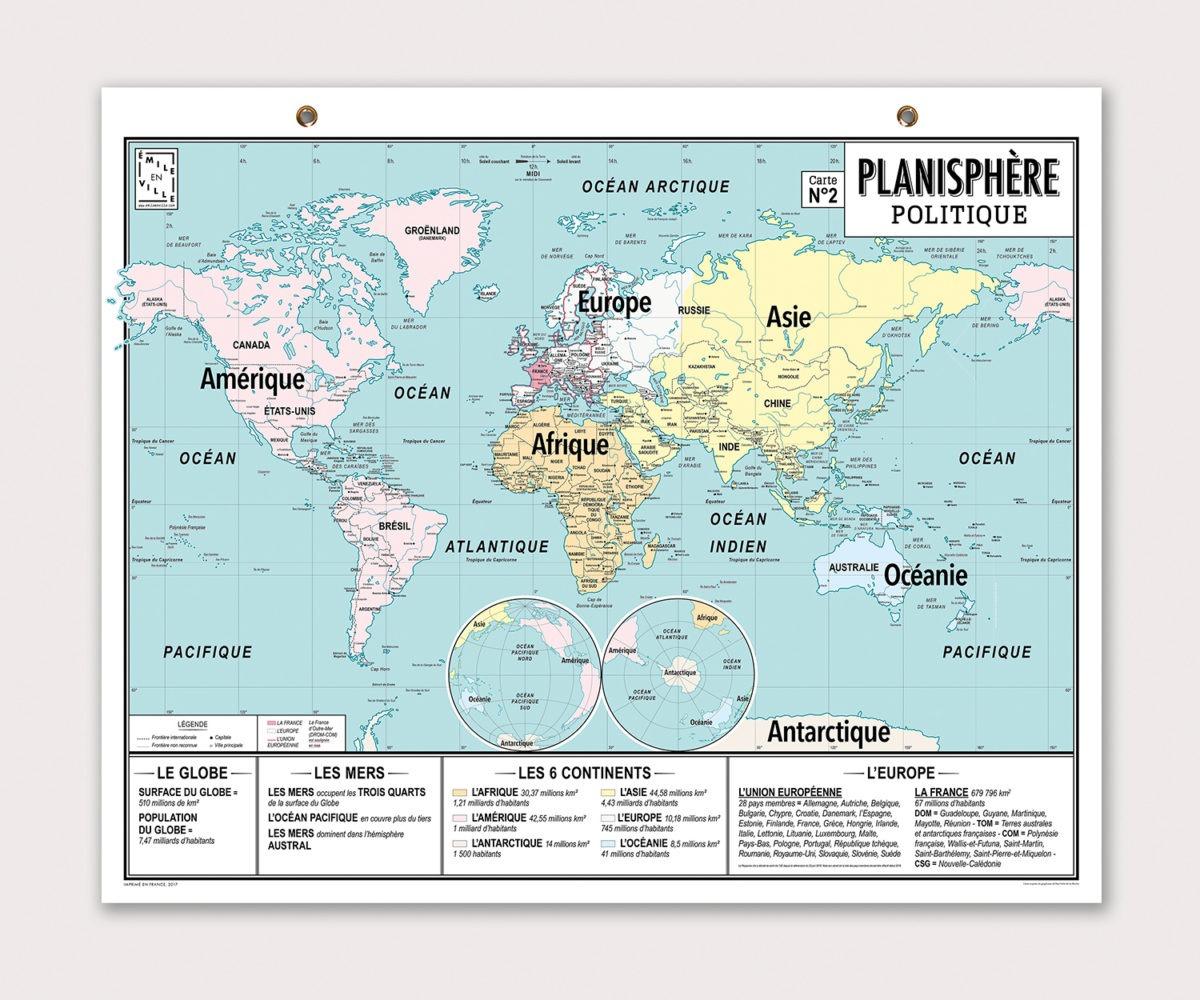 Ma Carte De Géographie : Mon Planisphère dedans Jeux De Carte Geographique Du Monde