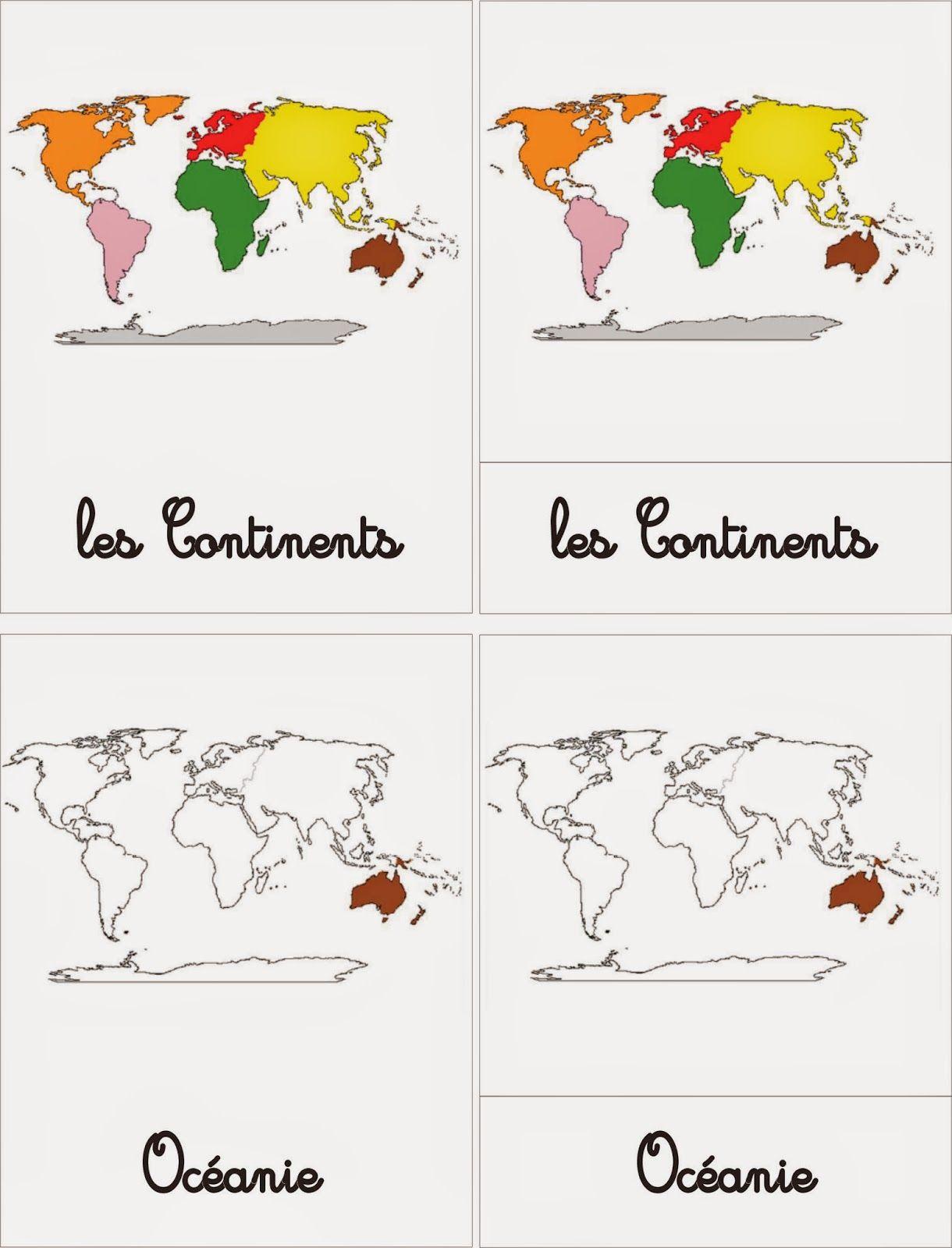 Ma Petite Fabrique Montessori: Cartes De Nomenclatures Les destiné Jeux De Carte Geographique Du Monde