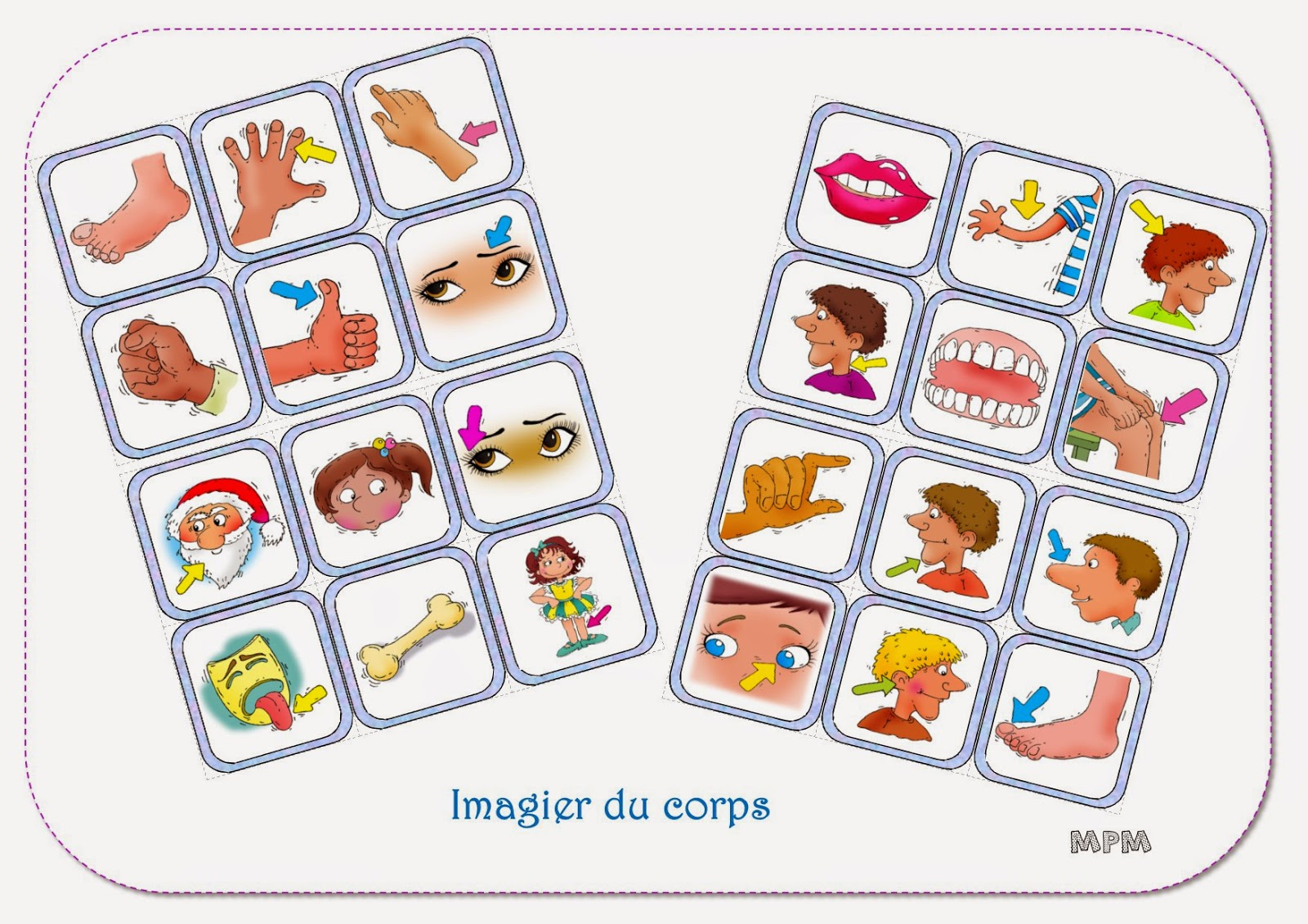 Ma Petite Maternelle: Imagier Du Corps avec Imagiers Maternelle