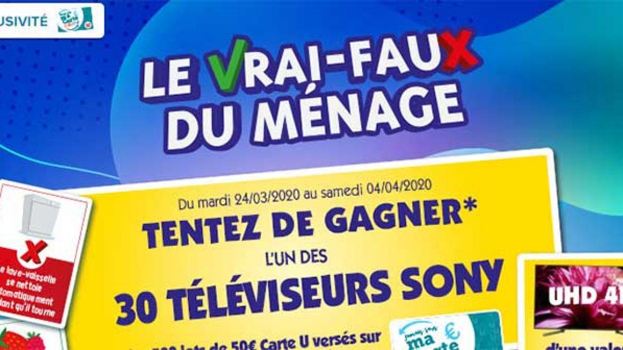 .magasins-U/jeu-Vfmenage – Grand Jeu Le Vrai-Faux Du concernant Vrai Faux Jeu