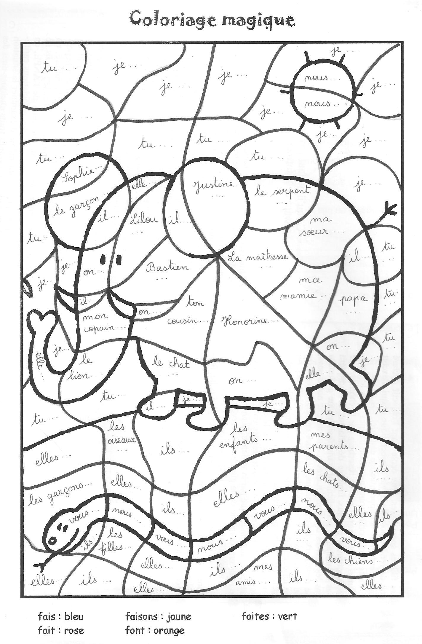 Magic Coloring #127 (Educational) – Printable Coloring Pages serapportantà Coloriage Codé Ce1