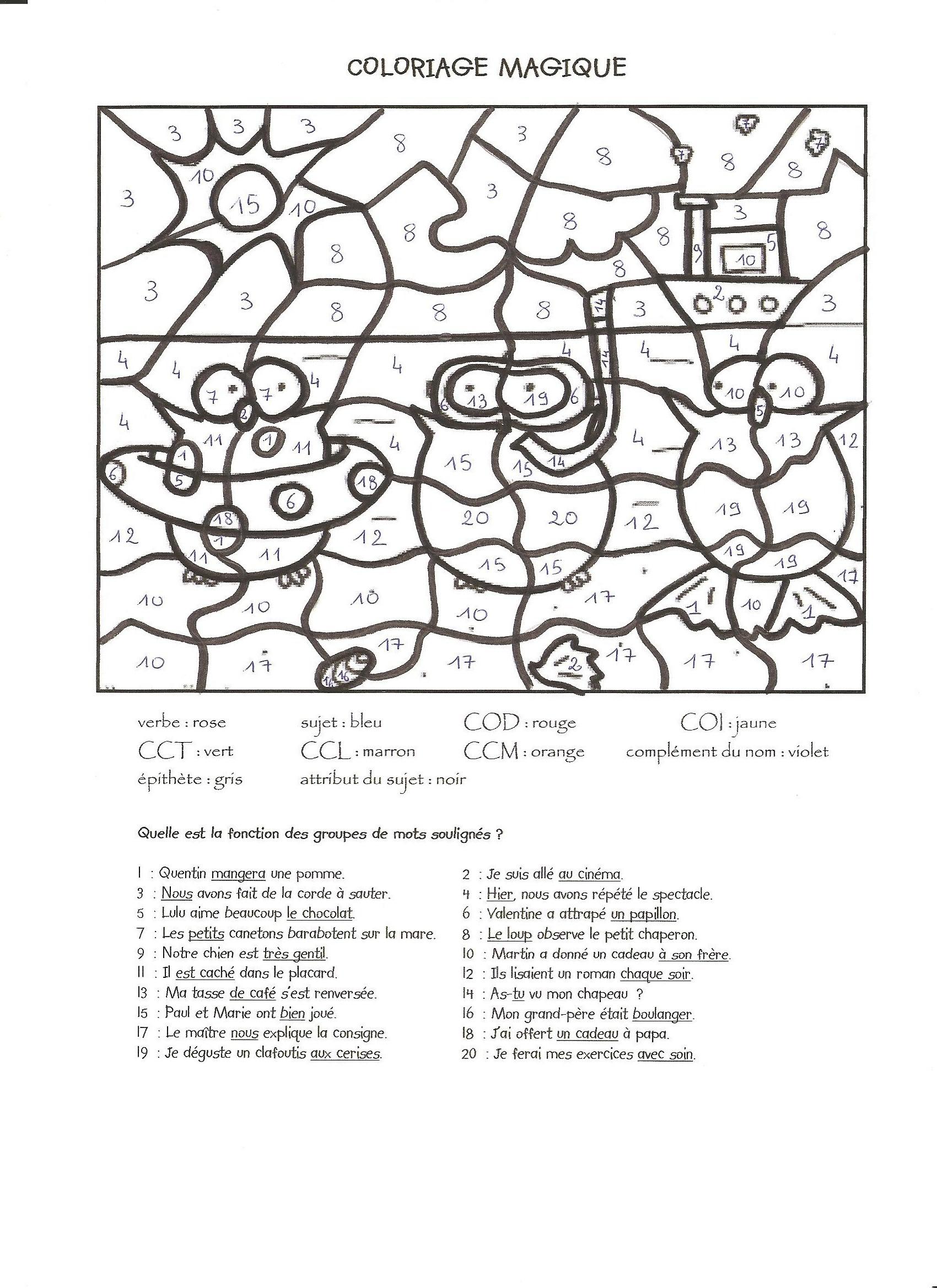Magique 5 - Coloriage Magique - Coloriages Pour Enfants pour Coloriage Codé Ce1