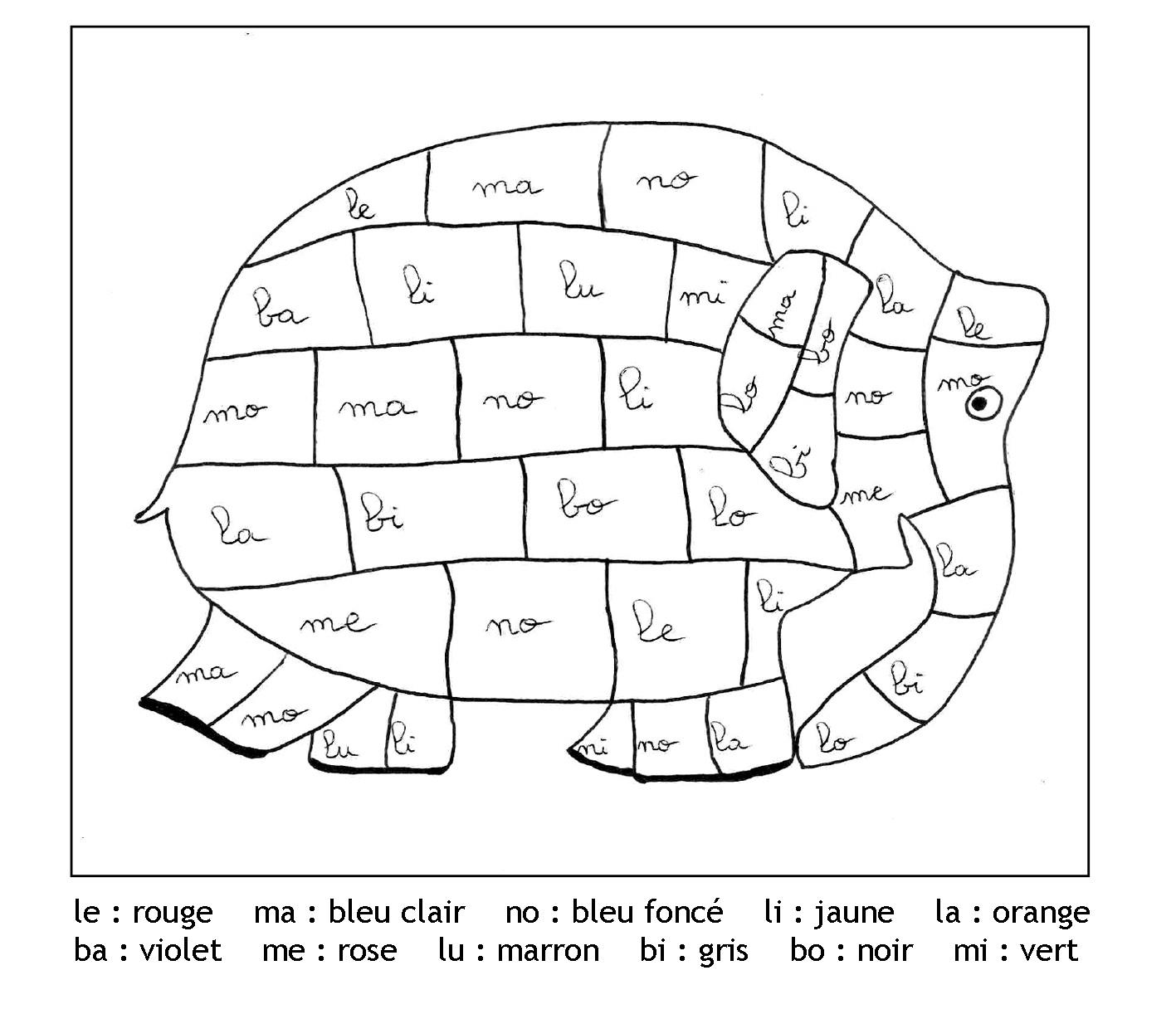 Magique Gratuit Syllabes Elephant - Coloriage Magique encequiconcerne Coloriage Magique Ms À Imprimer
