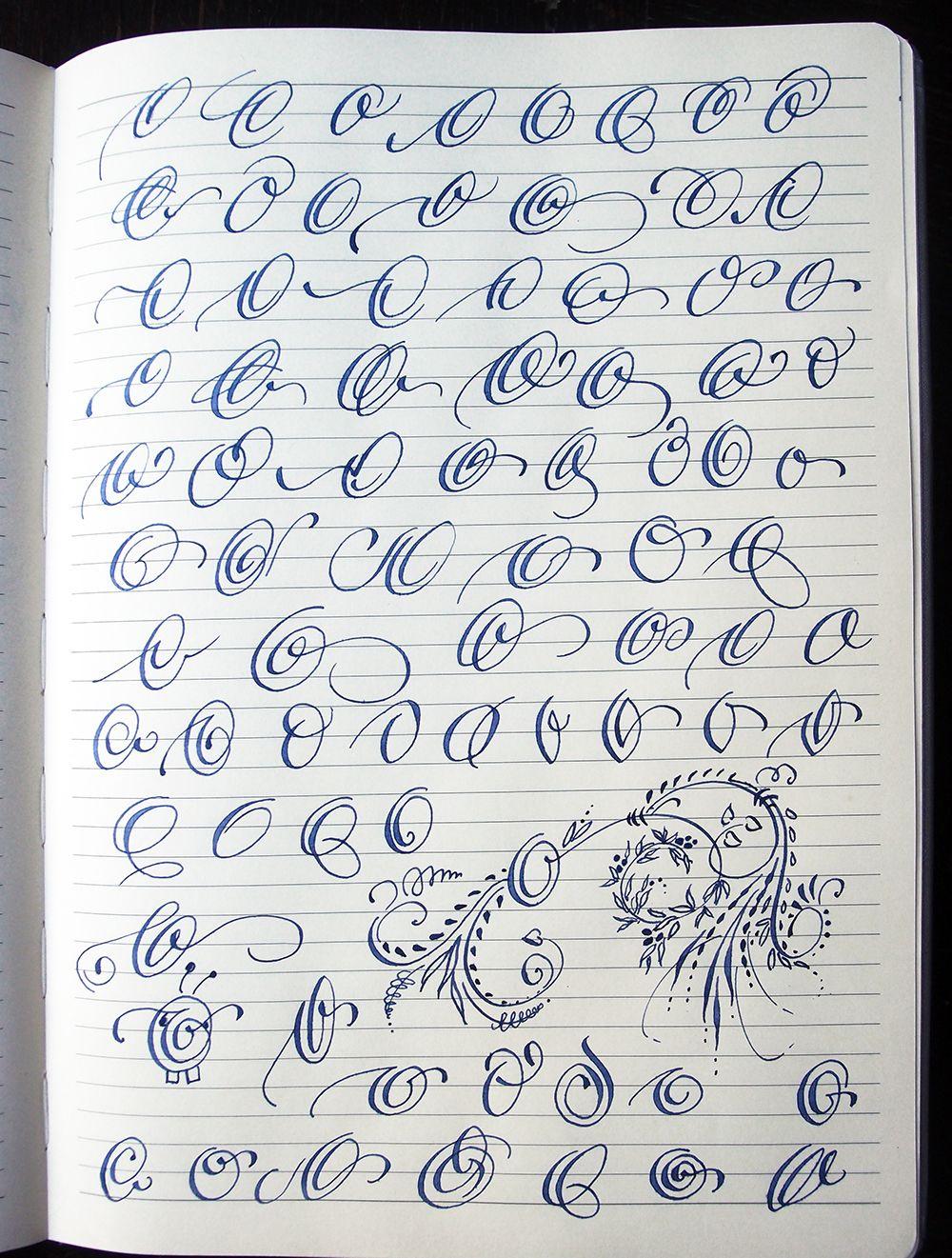 Majuscule O Variants By Polish Calligrapher Barbara Galinska concernant Majuscule Script